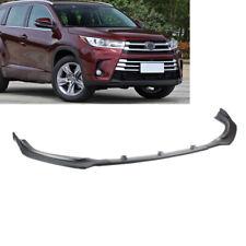 Matte Black Front Bumper Lip Spoiler Underbody Fit For Toyota Highlander 17-19