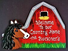 Personalize Horse Barn Welcome To Our Country Home Sign Name Wall Farm Plaque