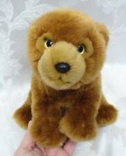 """Grizzy Teddy Bear Keel Toys 10"""" London Queens Soft Plush Paws Cuddly Toy Sits Up"""