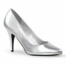 Pleaser Patternless Synthetic Leather Heels for Women