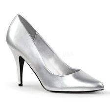 Pleaser Patternless Court Standard Width (D) Heels for Women