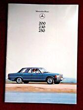 MERCEDES-BENZ - 200, 230, 250  - 1978 Sales Brochure
