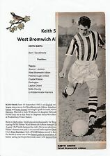 KEITH SMITH WEST BROMWICH ALBION 1959-1963 ORIGINAL HAND SIGNED MAGAZINE CUTTING