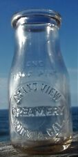 A very nice Antique Corona, CA., Grand View Cream Bottle, Early 1900's