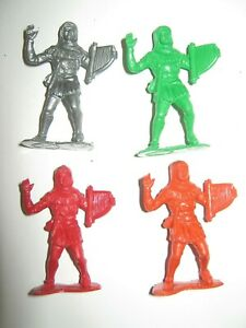 Marx recasts 4 minstrel figures in 4 colors made 1980's excellent cond.54mm