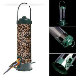 Hanging Garden Wild Bird Feeder Seed Container Hanger Outdoor Green Feeding V0H6