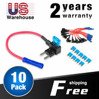 Nilight Add-a-circuit Fuse TAP Adapter Mini ATM APM Blade Fuse Holder - 10 Pack