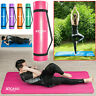 Yoga Mat For Pilates Gym Exercise Carry Strap Thick Large Comfortable 15mm UK