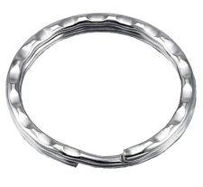 100 Schlüsselringe 28mm Verziert Schlüsselring Schlüsselanhänger Stahlringe Ring