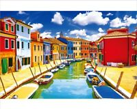 1000 Pieces Kids Adult Puzzle Small Town Burano Venice Jigsaw Difficult Puzzle