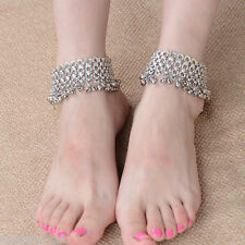 GIFT New Dull Silver Bell Rings Tassel Alloy Anklet For Fashion Women Hot Sale