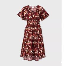 Isabel Maternity by Ingrid & Isabel, Short Sleeve Woven Maternity Dress, X-LARGE