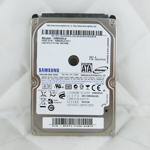 SAMSUNG 500GB LAPTOP HARD DISK DRIVE 2.5 SATA 3GB/S 5400RPM HM500JI