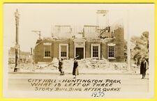 cpa RARE POSTCARD USA CALIFORNIA CITY HALL QUAKE 1933 Seïsme BUILDING de 3 étage