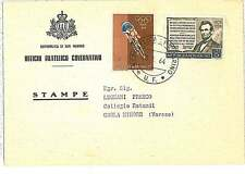 CICLING  OLYMPIC GAMES  - Postal History : SAN MARINO - stamp on card 1964