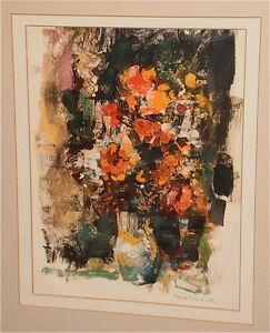 Vase of Flowers Gouache Painting-C.1970s-Frank Zuccarelli