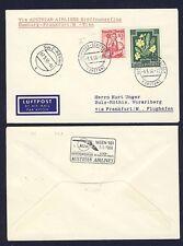 42718) AUA FF Frankfurt - Wien 5.5.58 Brief ab Österreich Schiffspost R!