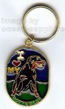ROTTWEILER ROTTIE Dog Key Ring Keychain Key Chain NEW Animal Pet  I love my