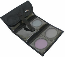 """New 6 Pocket Filter Pouch Case Bag Wallet """"Black Color"""""""