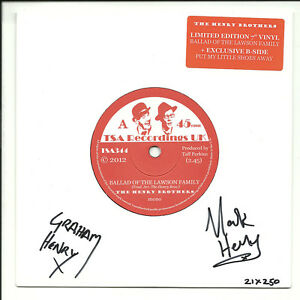 """2012 ltd edition (# of 250) HENRY BROTHERS 45 7"""" THE BALLAD OF THE LAWSON FAMILY"""