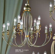 3659 SG-Chandelier, Silver Painted, Made In Italy,