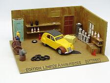 Norev 1/43 - Coffret 50e Anniversaire Diorama Citroen 2CV AZAM Atelier