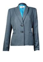 Le Suit Women's Yacht Club Notched Collar Blazer (4, Grey/Aqua)