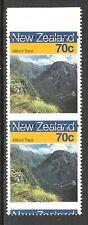 NEW ZEALAND 1988 70c MILFORD TRACK 'MISPLACED' ERROR PAIR (UHM)