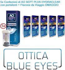 Liquido lenti contatto soluzione unica 5x AO SEPT PLUS CIBA VISION 360ml HYDRACL