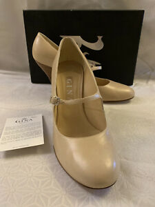 GINA VINTAGE TRINNY KID MARY JANE SHOES BNWT BEAUTIFUL LEATHER SIZE 7/40