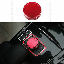 Red Alloy Multimedia Button Case Cover Trim For Mercedes-Benz C Class W204 12-14