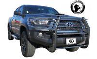 Black Horse fits 16-20 Toyota Tacoma Black Grill Brush Bumper Guard 17A096402MA