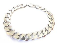 Men's Solid Sterling Silver 925 Cuban link Bracelet 9 Inches