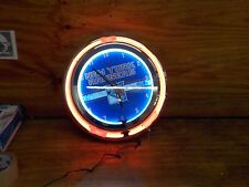 Trademark Gameroom Red Chrome Double Ring Neon Clock, 14""