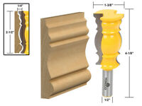 "2-1/2"" Crown Molding Router Bit - 1/2"" Shank - Yonico 16147"