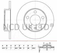 JURATEK REAR BRAKE DISC FOR SEAT IBIZA SPORTCOUPE 1.8 TSI CUPRA 1798CCM 192HP