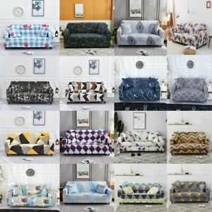 Printed Slipcovers Sofa Cover Spandex Stretch Couch Covers Furniture Protector