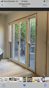 Timber French doors sash windows