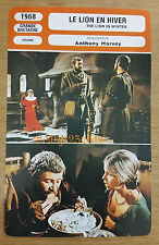 British Historical Drama The Lion In Winter Peter O'Toole French Film Trade Card