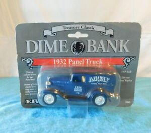 NEW 1993 Ertl Dime Bank Agway 1932 Panel Truck Black 1/43 Scale Diecast Metal