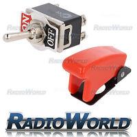 Missile Style Toggle Flick Switch 12V ON/OFF Car Dash Light Metal 12 Volt DPST