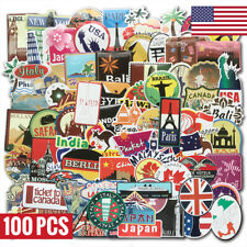 100 Travel Skateboard Stickers bomb Vinyl Laptop Luggage Decals Dope Sticker Lot