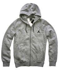 Men's Nike Air Jordan 23/7 Full Zip Hooded Sweatshirt Light Grey S Size