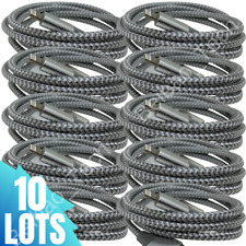 Lot of 10 Wholesale Fast USB Lightning iPhone iPad Charger Charging Cable Cord