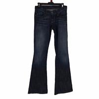 Rock & Republic Womens Blue Low Rise Flare Stretch Denim Jeans Juniors Size 25