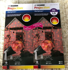 Light Show Projection Star Spinner Christmas Red Yellow Projectors