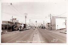 RPPC Street scene in Ocean Lake Oregon by Smith 1087