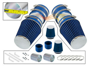 BLUE For 2008-2012 Mercedes Benz C300 3.0L V6 Short Ram Air Intake Kit+Filter