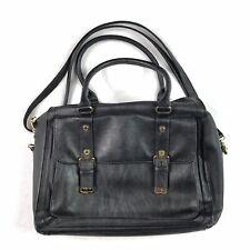 Steve Madden Women's Large Handbag Black Satchel Bag Purse Zip Close Pockets