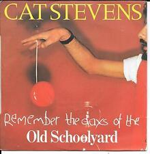 "45 TOURS / 7"" SINGLE--CAT STEVENS--OLD SCHOOL YARD / DOVES--1977"